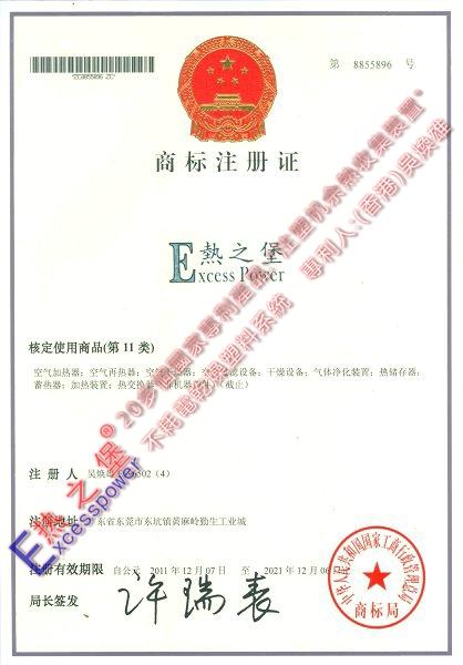 商标注册证_11类